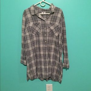 Plaid t shirt dress